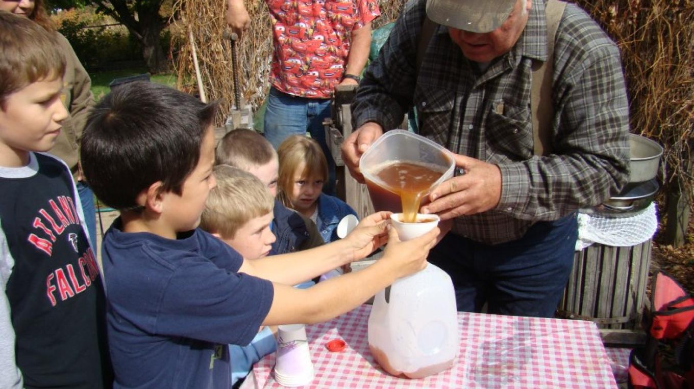 An ice cold drink of homemade apple juice is special. – Jean Bilodeaux