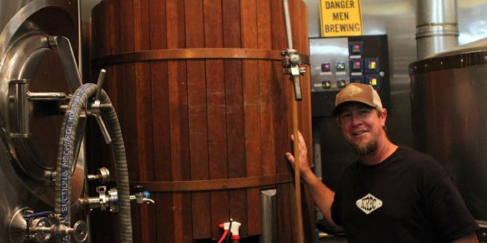 Kyle Smith posing with ferminter. – DrinkEatTravel.com