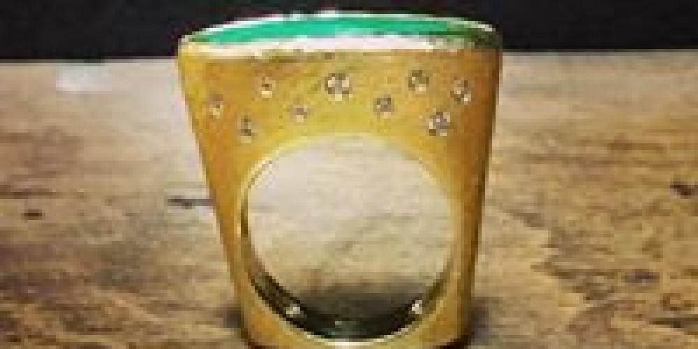 14k Gold Diamond and Jade Ring