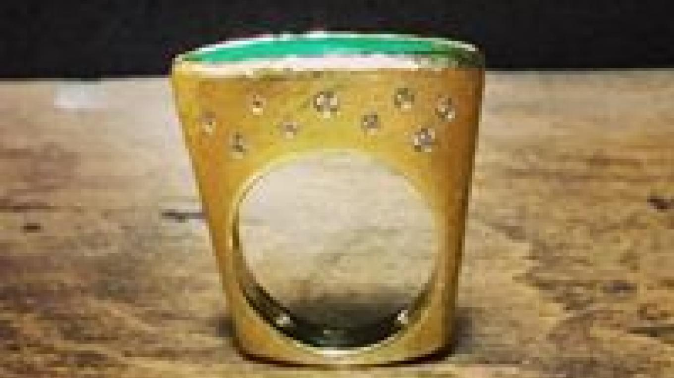 14k Gold Diamond and Jade Ring