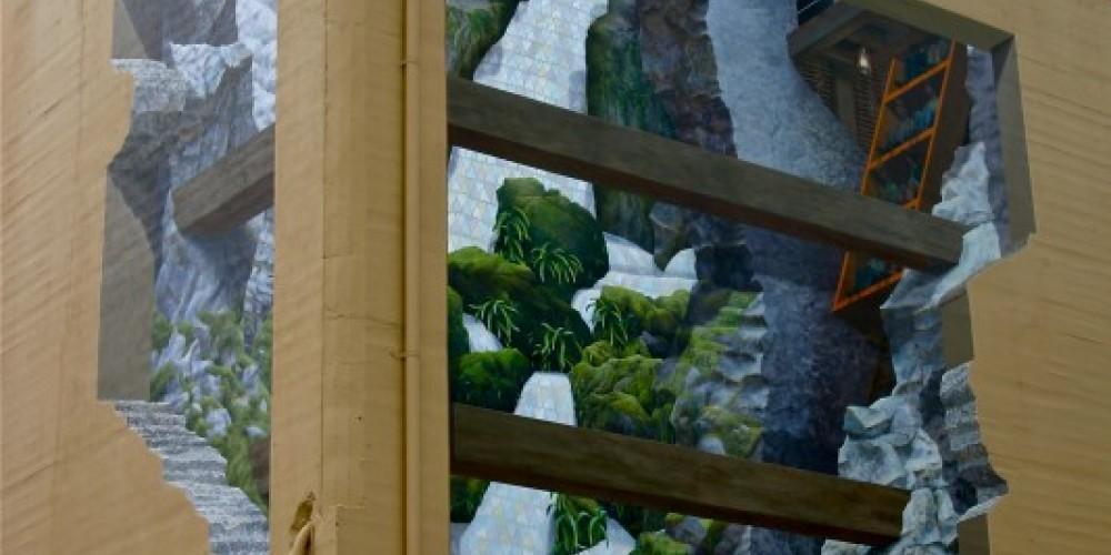 """John Pugh Mural  """"Mine Shift"""" 2010 (real of Del Oro) – H. Levine (collection)"""