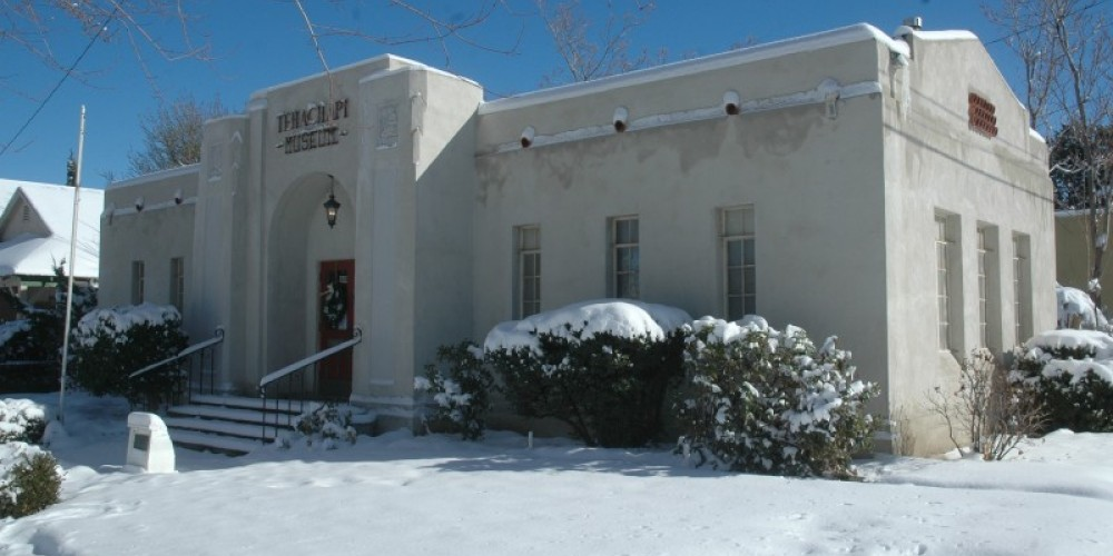 The Tehachapi Museum in winter.  Occupying the 1931 Kern County Library building, the museum is one of the few buildings not damaged by the 1952 earthquake, the second most powerful earthquake in California. – Jon Hammond