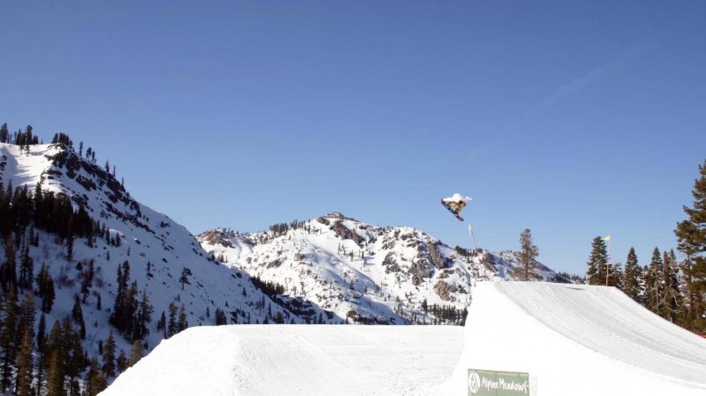"Kazuhiro ""Kazu"" Kokubo snowboarding at Alpine Meadows – Rachael Woods"