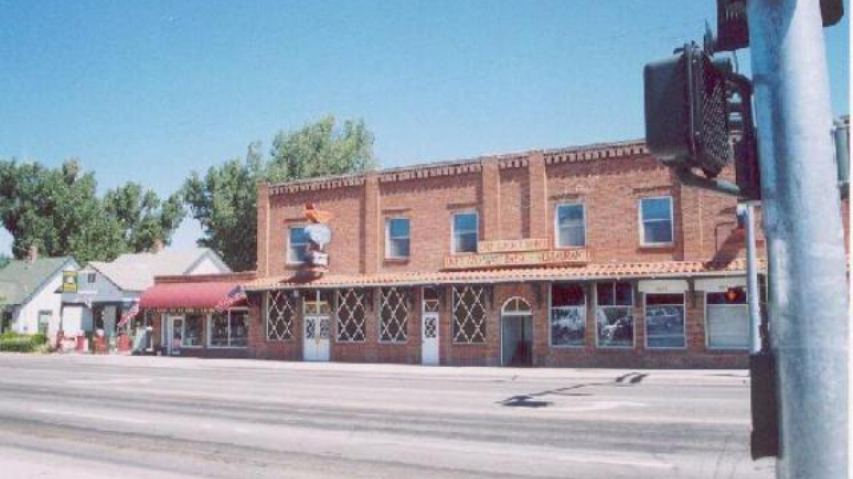 Old Brick building, housing Gardnerville's Best non-secret. – Donato