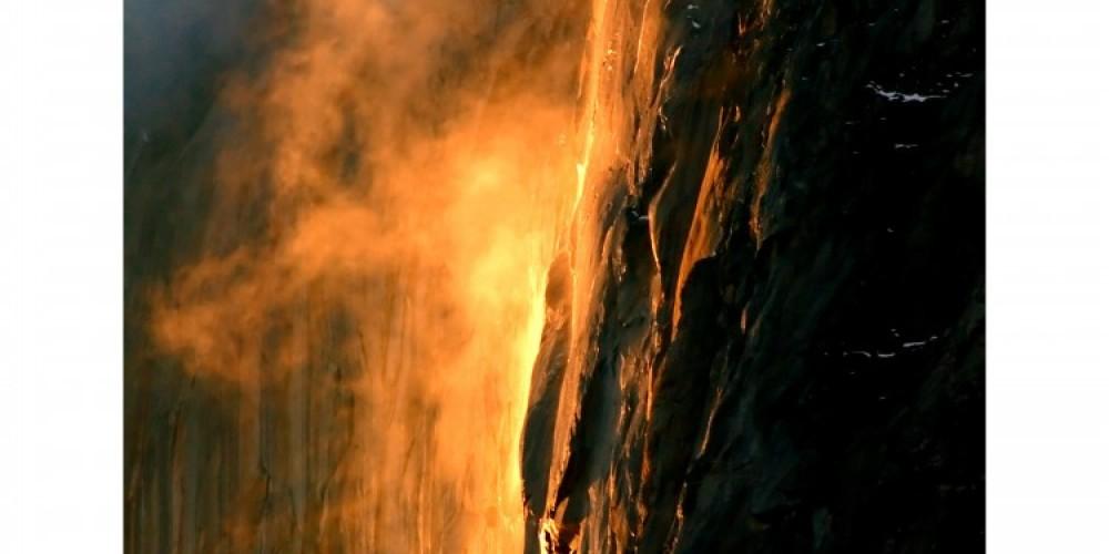 HorseTail Falls Natural FireFalls at Sunset – Charles Phillips