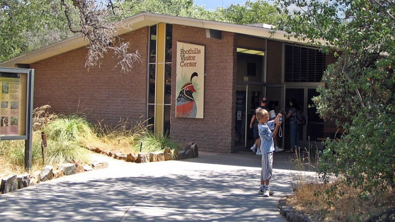 Come on in to the Foothills Visitor Center! – National Park Service Photo - Rick Cain