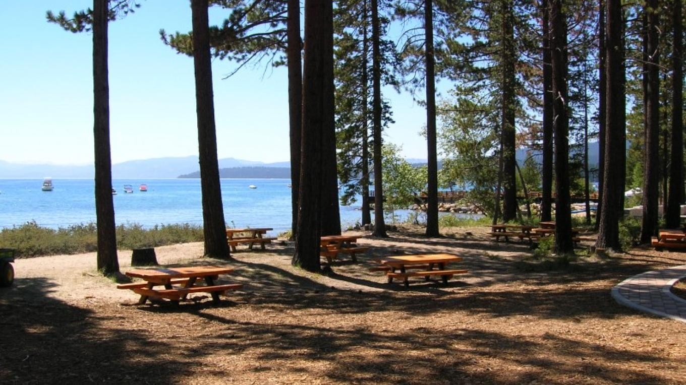 Picnic tables in the shade provide a nice place for a picnic. – Pam Lefrancois