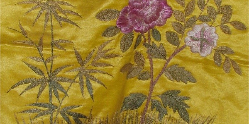 Occasionally, a fine antique Oriental silk in excellent condition is available in the shop. – Karrie Lindsay