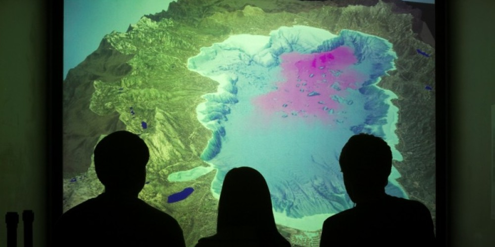 """""""Lake Tahoe in Depth"""" 3-D movie now playing in the Otellini 3-D Visualization Lab – Jim Markle"""