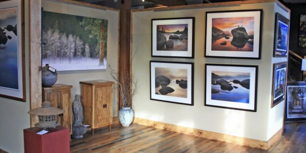 The interior of the Carmel Gallery in historic downtown Truckee, next to the Truckee Hotel and Moody's Bistro. – Elizabeth Carmel