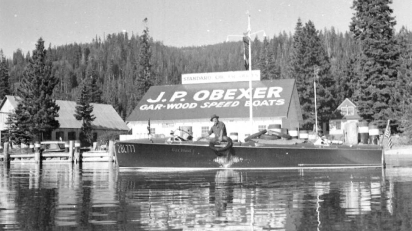 This photo of of J.P. Obexer is from the Obexer Family Collection at the Tahoe Maritime Museum in Homewood. – Tahoe Maritime Museum