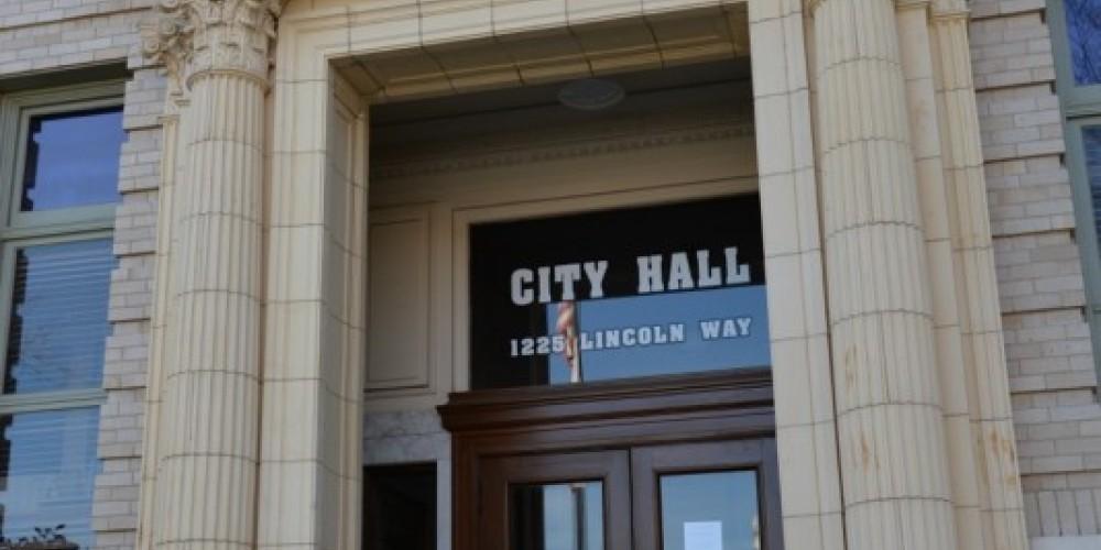 Entrance to Auburn Civic Center – Michael Loomis