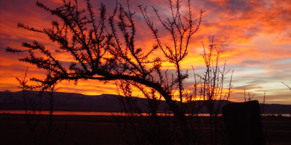 Sunrises can be spectacular in the Modoc skies. – Jean Bilodeaux