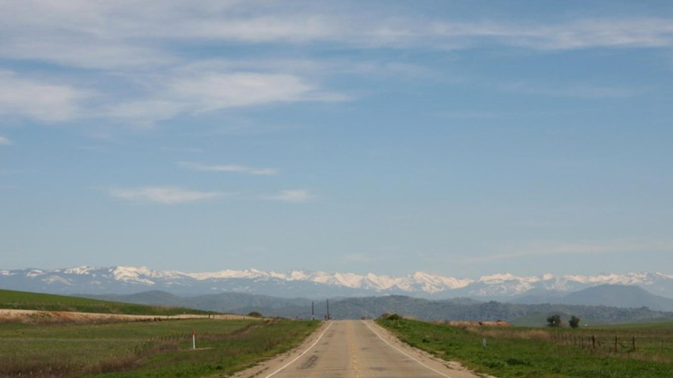 Sierra Gateway Scenic Highway looking east towards the Sierras – Henry J. Provost