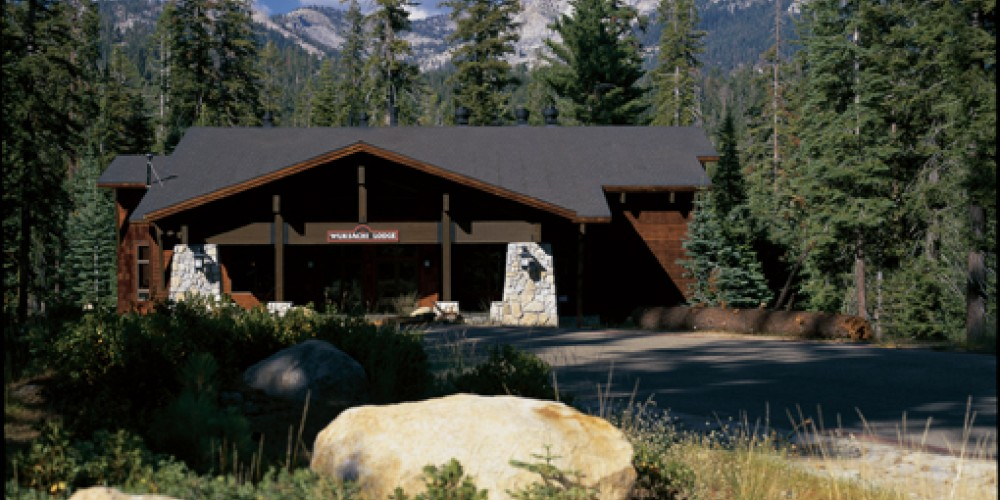 Exterior of the main lodge