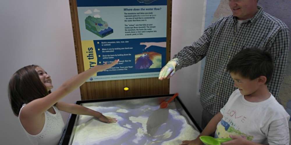 """Shaping Watersheds"" Interactive Sandbox – Jim Markle"