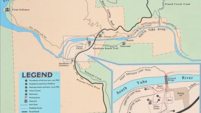Map of the Bridgeport area trails – Herb Lindberg