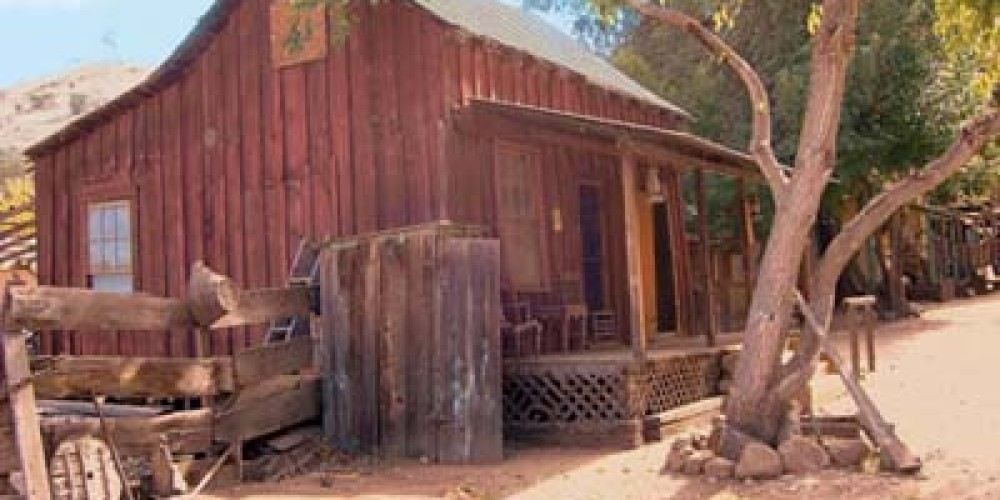 The Apalatea/Burlando House which is believed to be the oldest standing structure in the Valley houses a saloon and country store. T