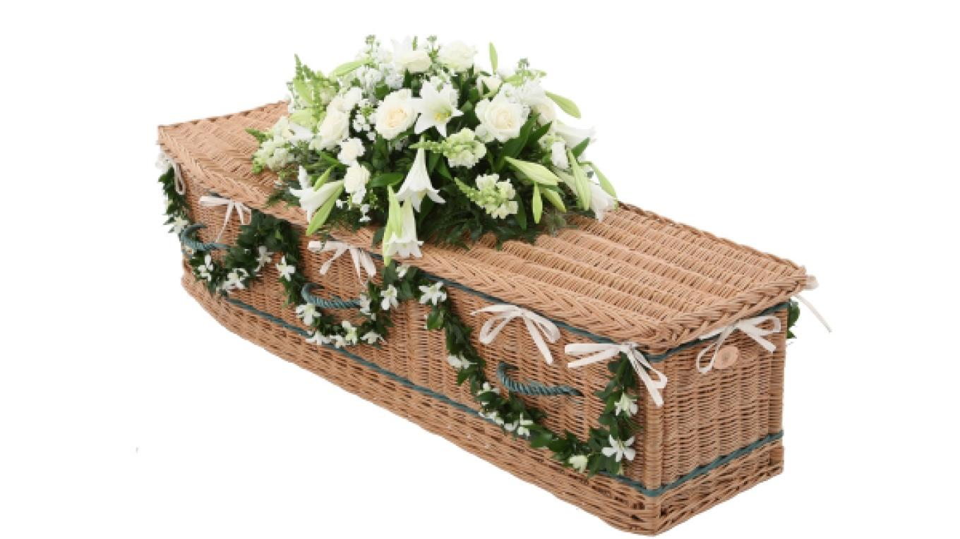 Basket Casket – Stock Image