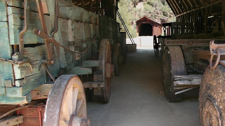 Looking through the barn at the bridge – Herb Lindberg