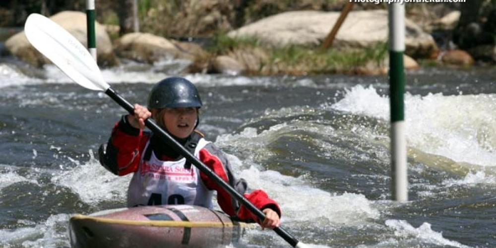 Racing in the Kern River Fest's TJ Slalom – Gary Valle