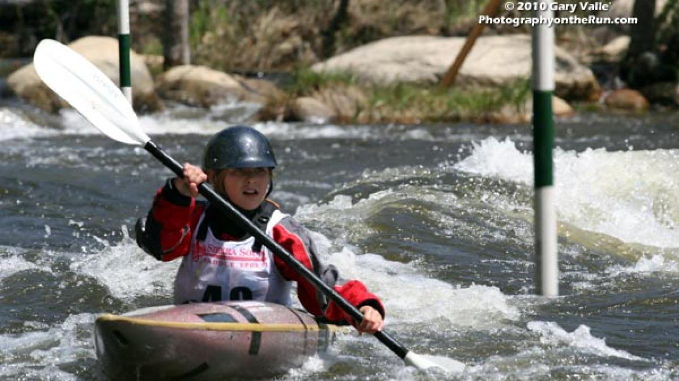 Racing in the Kern River Fest's TJ Slalom – Gary Valle
