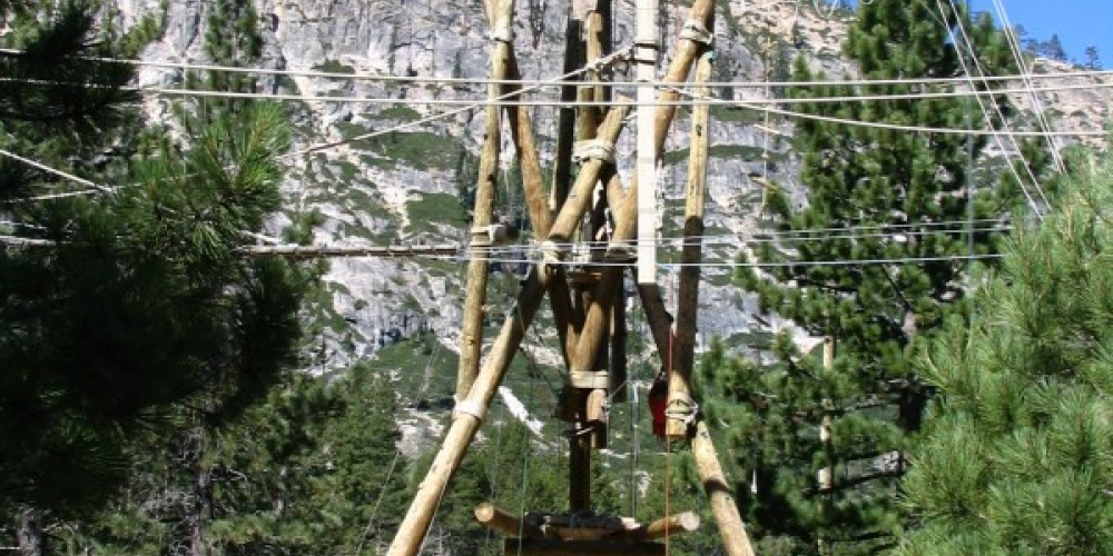 Squaw Valley Adventure Center Ropes Course Alpine Tower