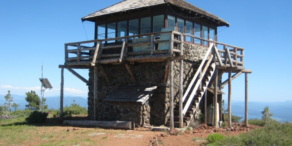 Mount Harkness Fire Lookout at Lassen Volcanic National Park