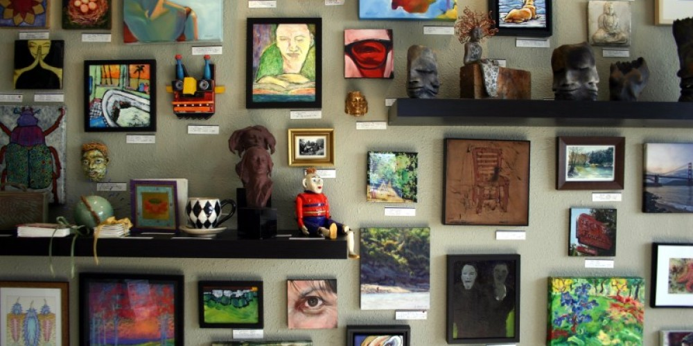 """The """"Small Works Wall"""" at ASiF Studios"""