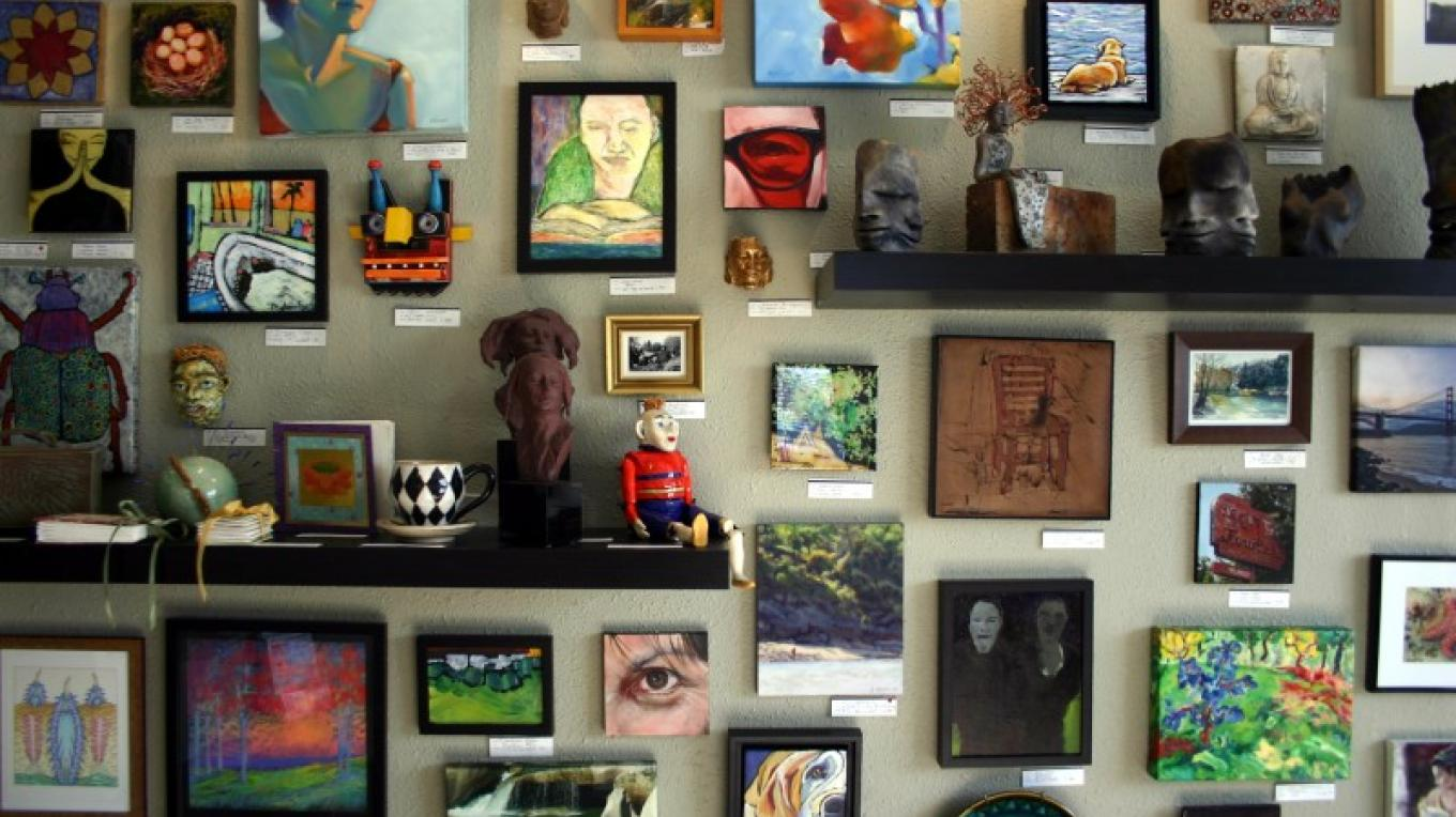 "The ""Small Works Wall"" at ASiF Studios"