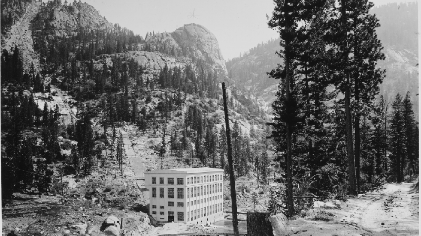 Historical view of PH #1 with Kerckoff Dome in the background – Southern California Edison