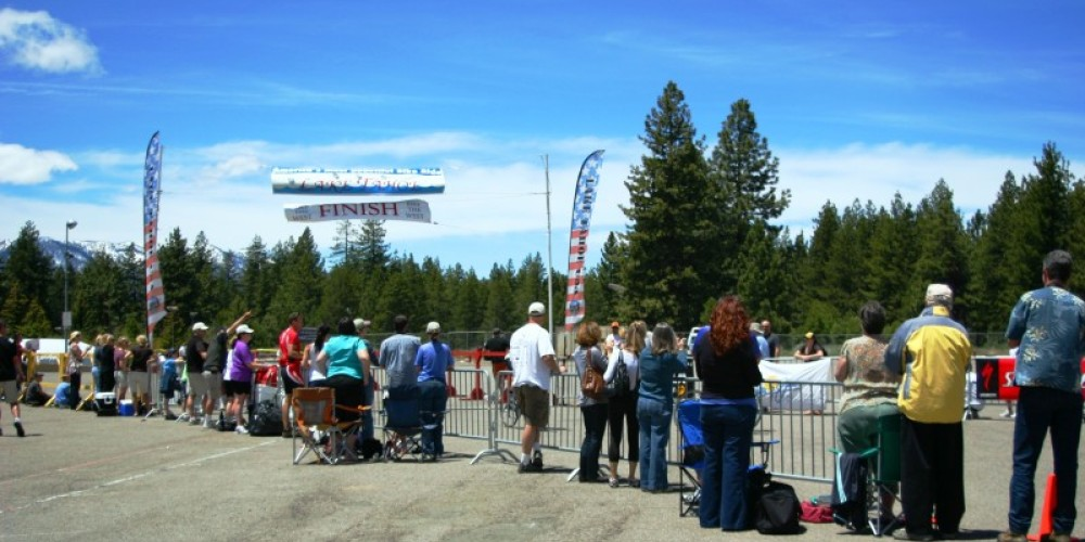 Supporters awaiting at the Finish Line – Bonnie L. MacRAe