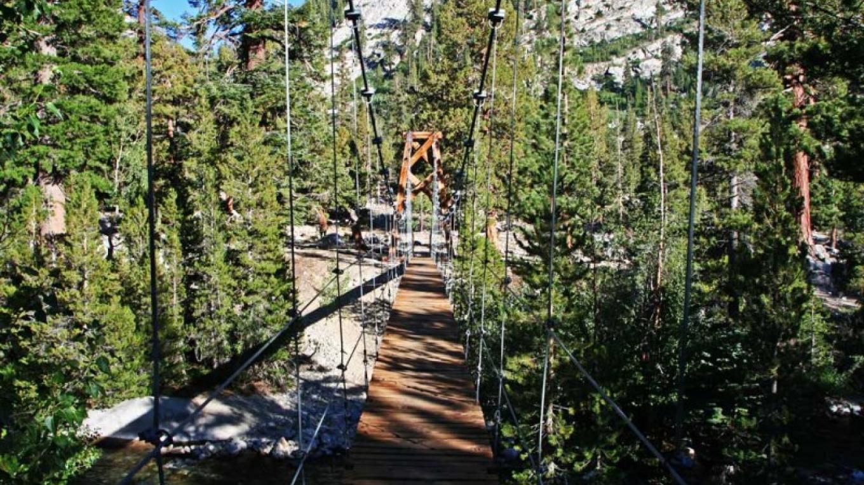 The Woods Creek crossing is via a nice suspension bridge! – NPS/Rick Cain