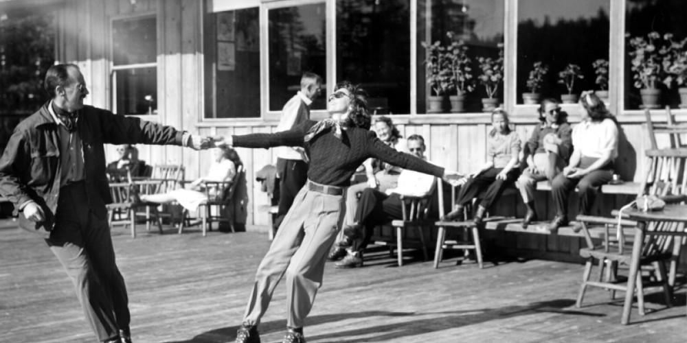 Walt Disney dancing on the deck – Compliments of Sugar Bowl