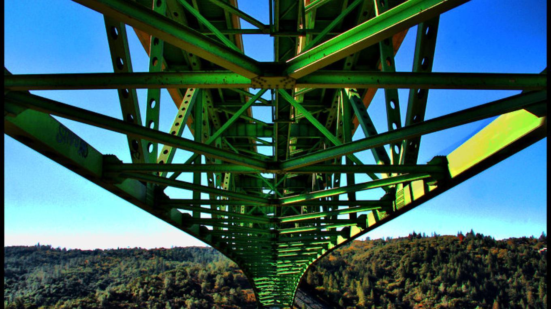 Foresthill Bridge - underside trusses – Darin Pointer - www.ffgphotos.com