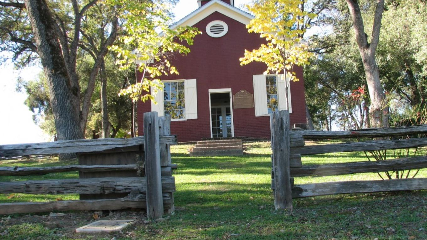 Front Exterior of Altaville School House – B Rogers