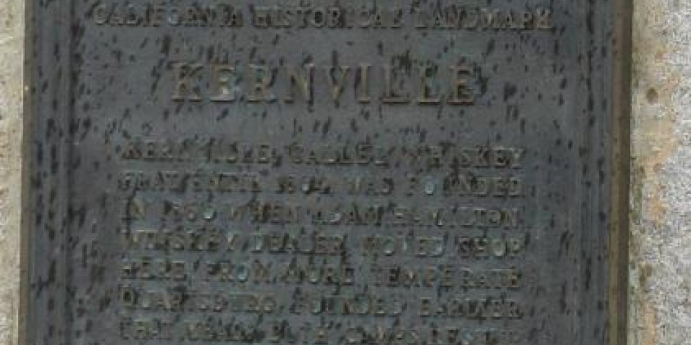 Kernville California Historical Landmark No. 132 (close up view) – Richard Cayia Rowe, May 2010