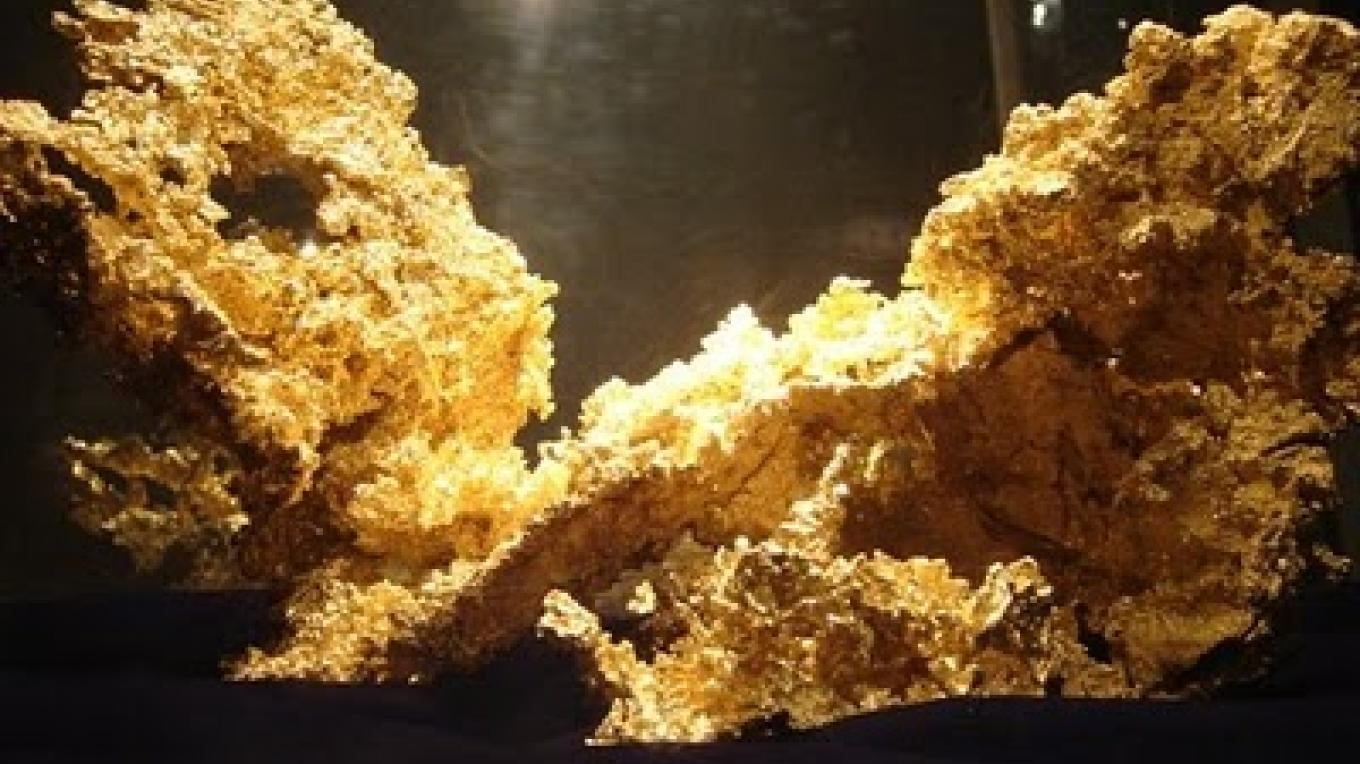 Fricot Nugget, weighing in at about 13 pounds. It was found in 1864, lost to history after 1878, and was rediscovered in a safe-deposit box in an Angels Camp bank in 1943. – Geotripperimages.com