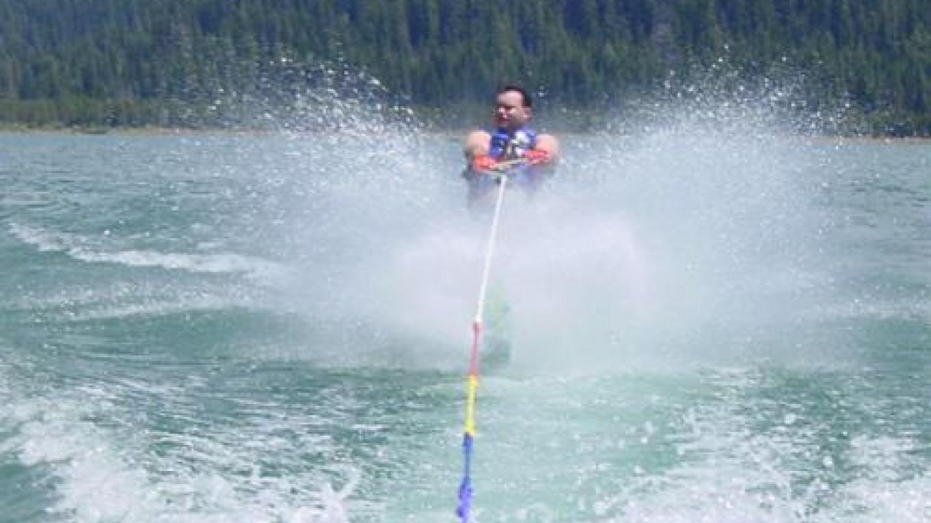 Waterskiing at Grass Valley Reservoir - one of many recreation opportunities – La Porte Union