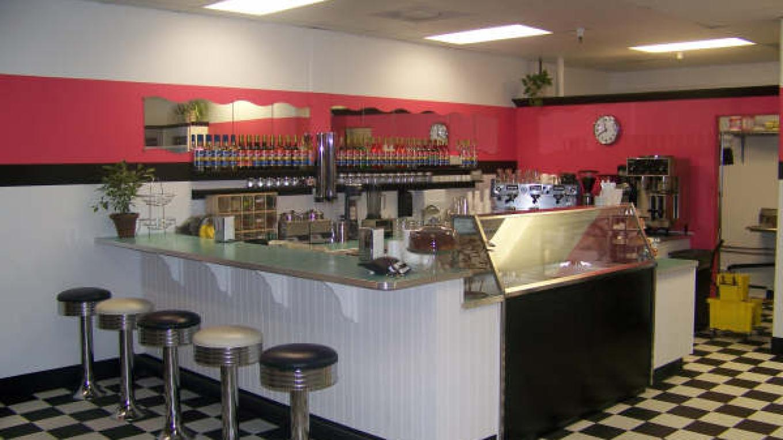 Interior of Caleb's Creamery – Susan George