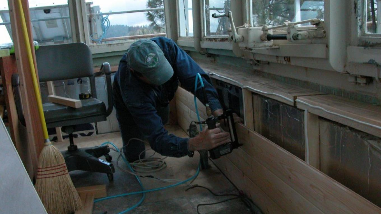 Volunteer Brent Iden helps to restore Delilah Lookout – Kathy Allison