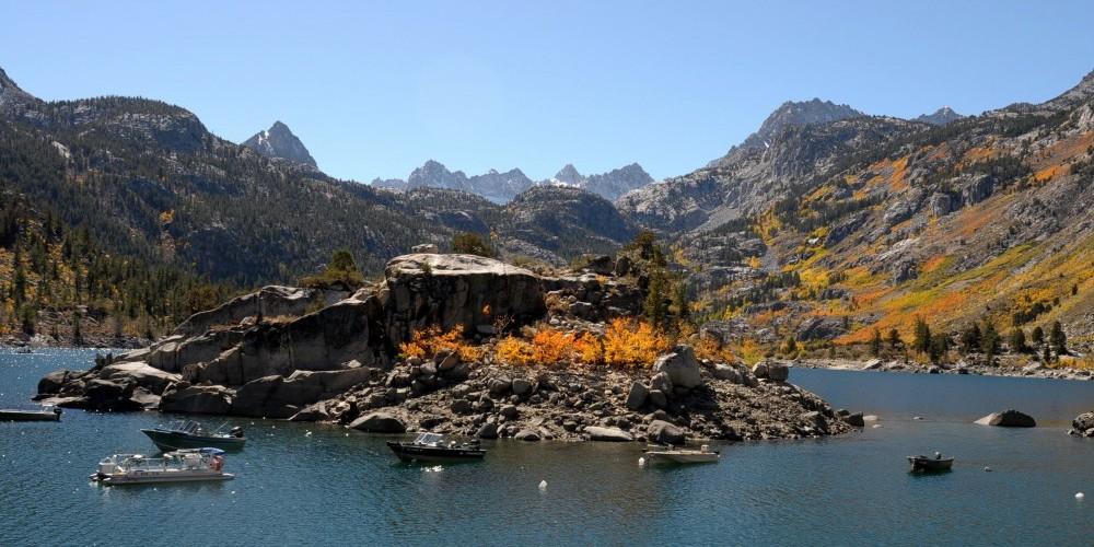 Lake Sabrina awash in fall color. – Jim Kellett