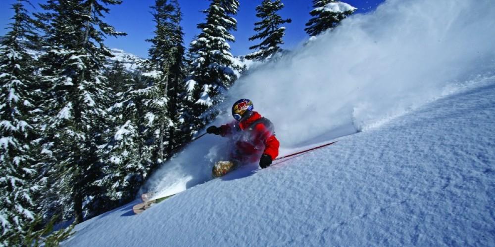 Sugar Bowl Ski Ambassador Daron Rahlves enjoying the early morning pow. – Grant Barta