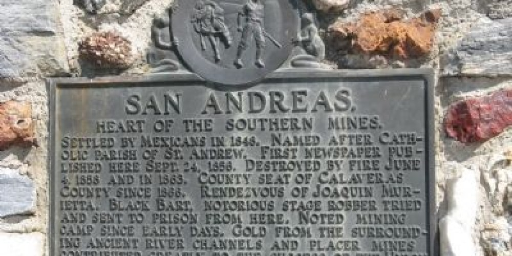San Andreas Marker – Historical Marker Database