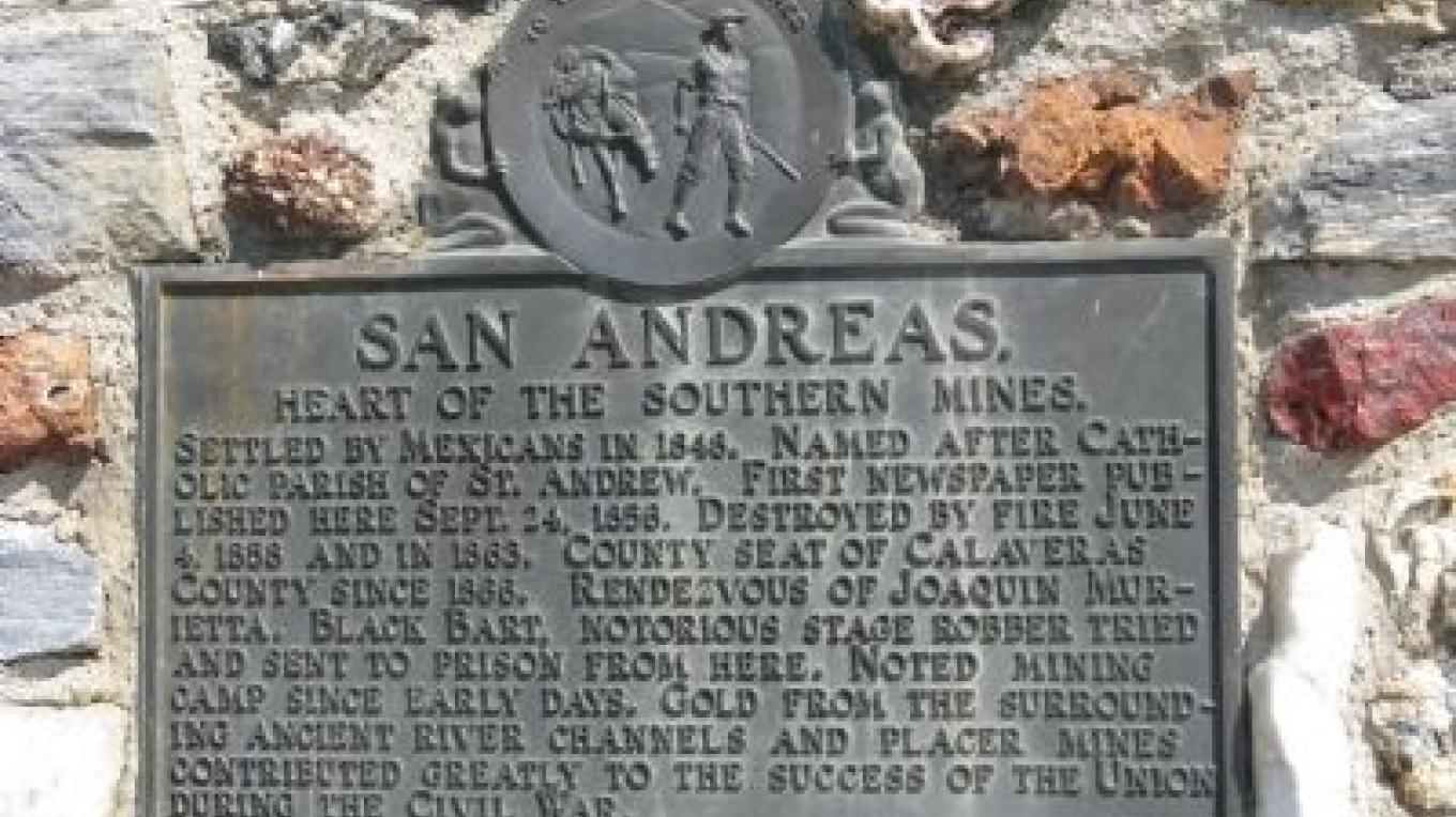 San Andreas Marker – Historical Marker Database