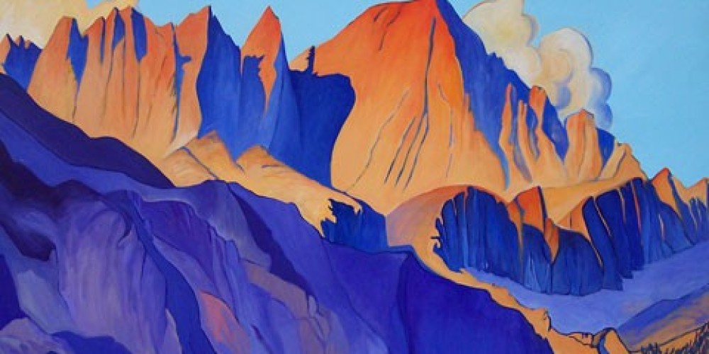 Mount Whitney, 36x60, oil/canvas, Wynne Benti – Coons Gallery