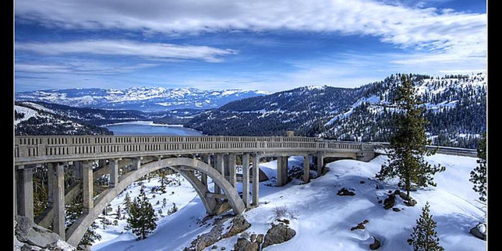Rainbow Bridge on historic Highway 40 near Donner Lake – www.snowbrains.com