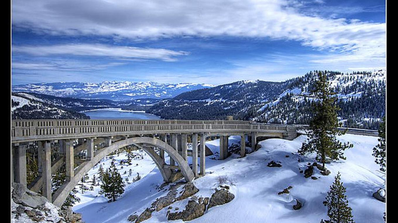 Rainbow Bridge on historic Highway 40 near Donner Lake – www.snowbrains.com