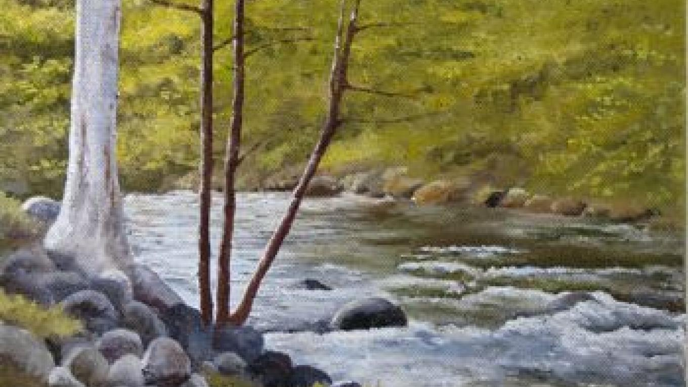 Kaweah River, oil painting