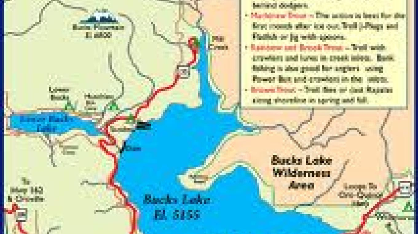 Map of Bucks Lake Area